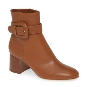 NWT Gianvito Rossi Buckle Brown Booties 39 (8.5)